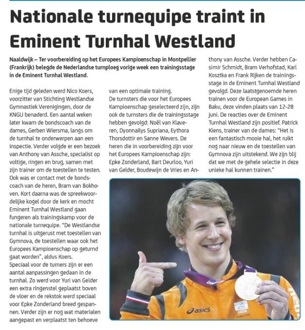Westland sport 15 april